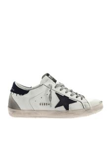 Golden Goose - Sneakers Superstar Classic bianche e blu
