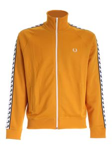 Fred Perry - Felpa Taped Track color ambra
