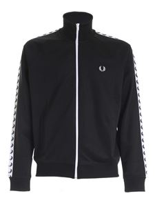 Fred Perry - Felpa Taped Track nera