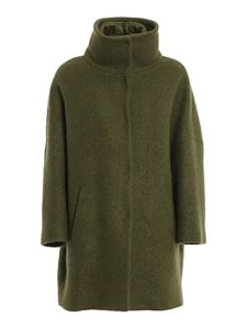 Herno - Wool bouclé coat in green