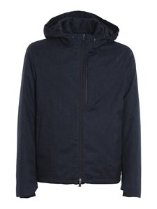 Herno - Mélange grisaille puffer jacket in blue