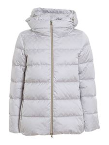 Herno - Monogram patterned puffer jacket in grey