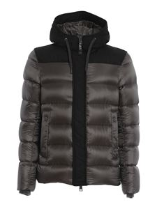 Herno - Wool and quilted nylon blend puffer jacket in grey