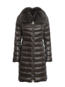 Herno - Elisa fur detailed padded coat in grey