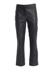 Paolo Fiorillo - Synthetic leather pants in black