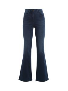 Patrizia Pepe - Embroidered pocket bootcut jeans in blue