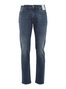 PT05 - Jeans Swing in denim slavato blu