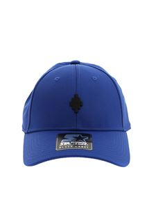 Marcelo Burlon County Of Milan - Black logo embroidery hat in blue