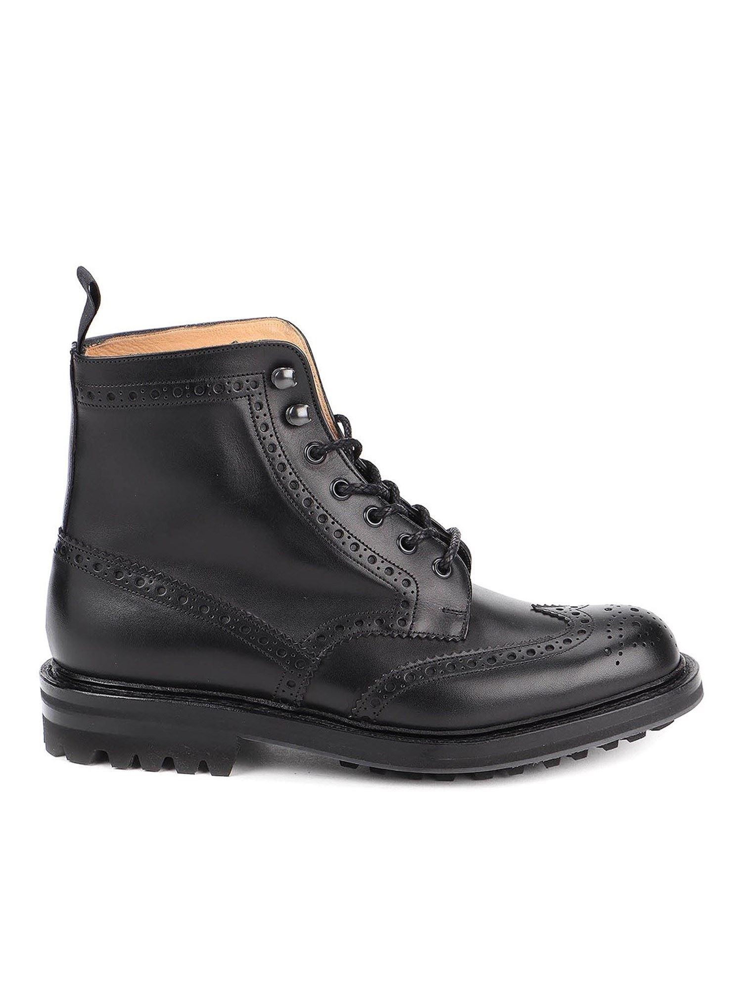 Church's Leathers MCFARLANE COMBAT BOOTS IN BLACK