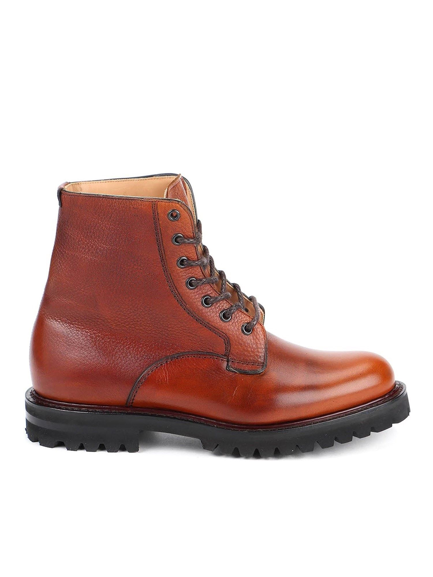 CHURCH'S COALPORT 2 COMBAT BOOTS IN BROWN