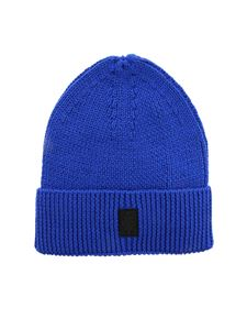 Marcelo Burlon County Of Milan - Logo patch beanie in electric blue