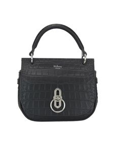 Mulberry - Amberley croco print leather small bag in black