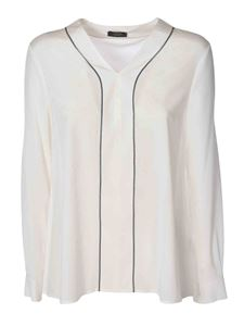 Peserico - Micro-beads detailed blouse in white