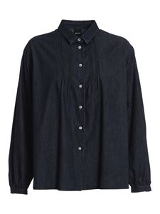 Aspesi - Gathered denim shirt in blue