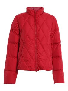 Aspesi - Padded jacket with scarf in red