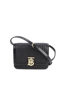 Burberry - TB quilted leather crossbody bag in black