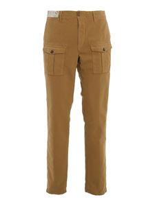 Incotex - Satin cargo pants in camel color