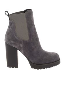 Hogan - H542 chelsea ankle boots in tar color