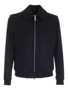 Dondup - Wool bomber jacket in blue