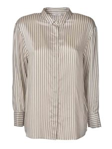 Peserico - Shirt with striped pattern in ivory color