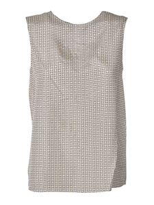 Theory - Printed top in ivory color