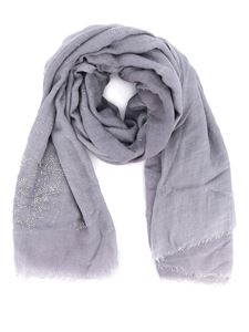 Avant Toi - Embellished scarf in grey