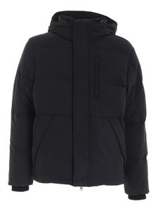 Kenzo - Logo patch quilted down jacket in black