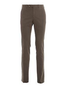 PT01 - Stretch cotton blend trousers in grey