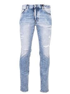 Dsquared2 - Skater jeans delavè colore Light Baby Blue