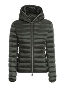 Save the duck - Iris hooded puffer jacket in green