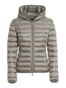 Save the duck - Iris nylon hooded puffer jacket in grey