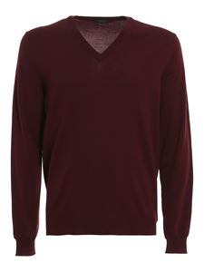 Zanone - Combed wool sweater in red