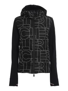 Moncler Grenoble - Quilted front jersey jacket in black