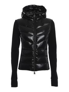 Moncler Grenoble - Quilted front cardigan in black