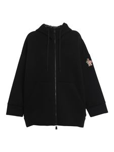 Moncler Grenoble - Neoprene cape-style hoodie in back