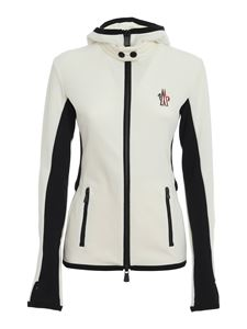 Moncler Grenoble - Fleeced jacket in white