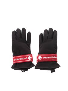 Dsquared2 - Logo tape gloves in black and red