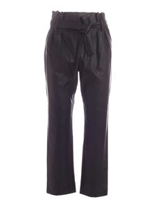 be Blumarine - Belt synthetic leather pants in black