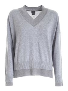 Lorena Antoniazzi - Cashmere lamé pullover in grey