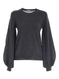 Parosh - Puff sleeve pullover in anthracite color