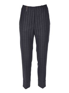 Peserico - Checked pants in grey