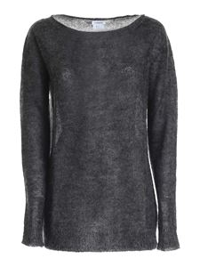 Parosh - Mohair blend pullover in anthracite color