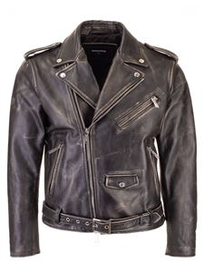 Dsquared2 - Aged leather minI Kiodo jacket in black