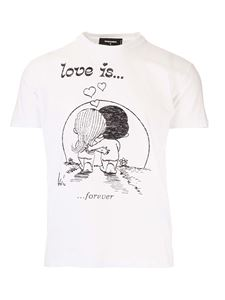 Dsquared2 - T-shirt Love Is bianca