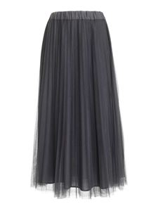 Parosh - Pleated tulle skirt in grey