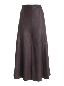 Parosh - Flared skirt in brown