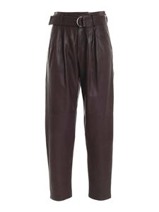 Parosh - High-waisted pant in brown