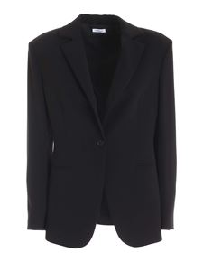 Parosh - Single button jacket in black