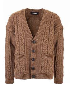 Dsquared2 - Cable knit cardigan in brown