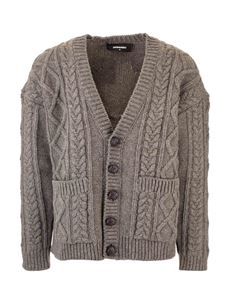 Dsquared2 - Cable knit cardigan in grey